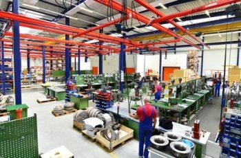 Produktionsstätte - moderne Fertigung in der Industrie